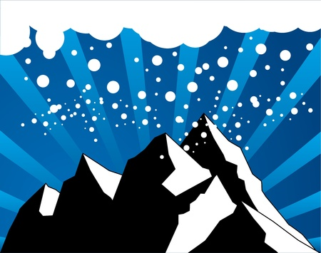 Abstract winter mountain background Stock Vector - 14170007