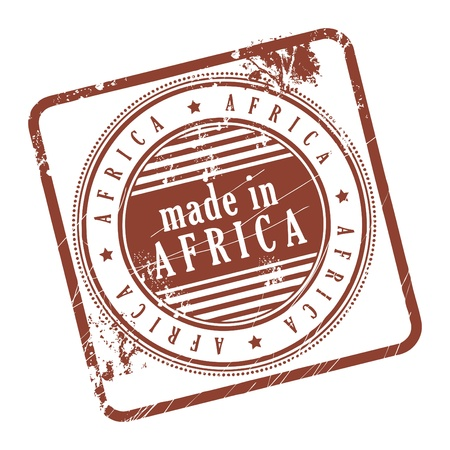 Grunge rubber stamp made in Africa Stock Vector - 14170024