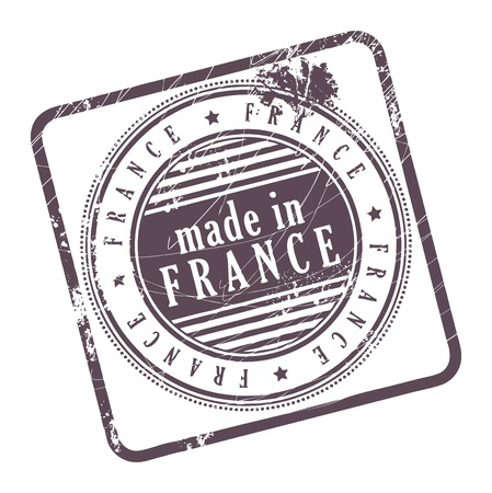 Grunge rubber stamp made in France Vector