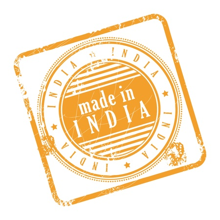 Grunge rubber stamp made in India Vector