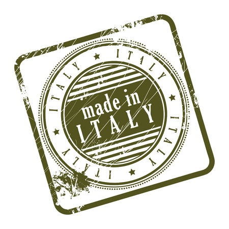 Grunge rubber stamp made in Italy Stock Vector - 14170022