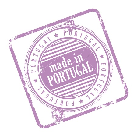 made in portugal: Grunge rubber stamp made in Portugal