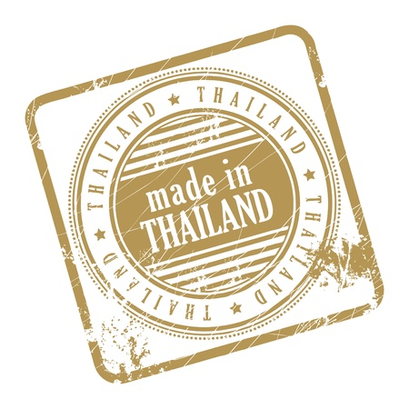 Grunge rubber stamp made in Thailand Stock Vector - 14170029