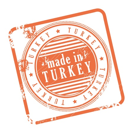 Grunge rubber stamp made in Turkey Stock Vector - 14170020