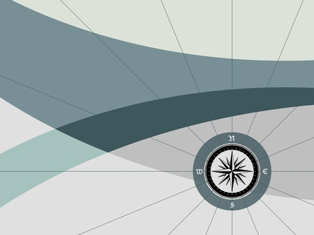 windrose: Background with compass Illustration