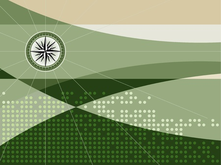 Background with compass Vector