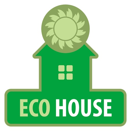 Eco house symbol Stock Vector - 14311402