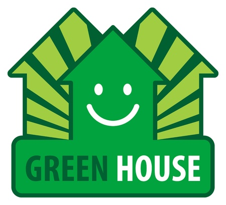 Green house label Vector