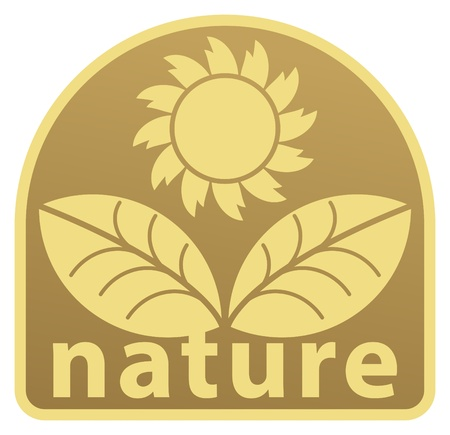 Nature label Stock Vector - 14311403