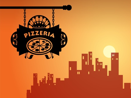 Pizzeria sign Stock Vector - 14311411