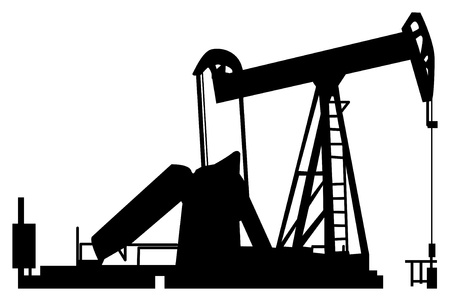 drilling rig: Oil pump silhouette
