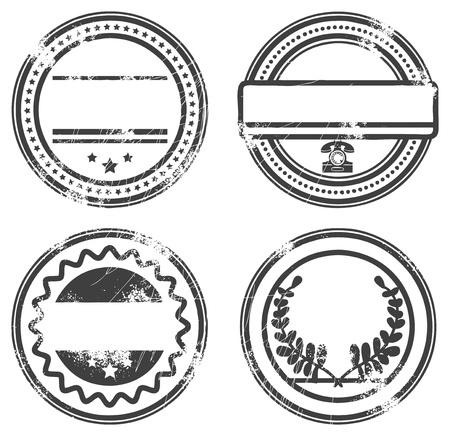 sello de goma: Resumen sello de vac�o de caucho grunge creado con espacio para texto