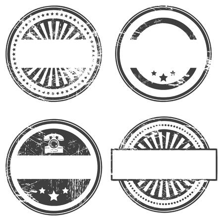 Résumé timbre vide en caoutchouc grunge mis en espace pour le texte Vecteurs