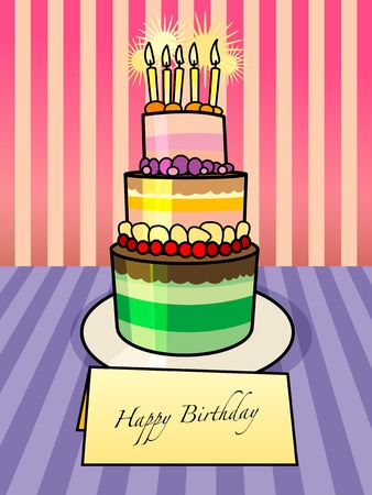 Birthday cake Stock Vector - 14311365