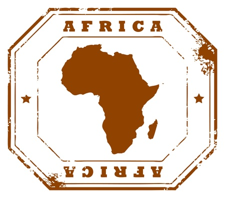 Grunge rubber stamp with the text Africa written inside the stamp Vector