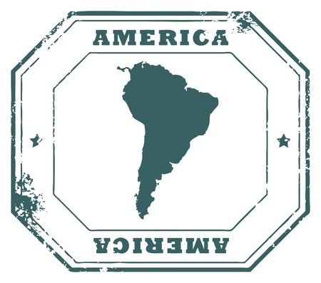 Grunge rubber stamp with the text America written inside the stamp Vector