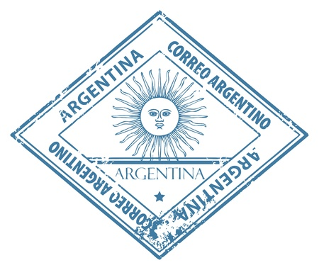 Grunge rubber stamp with word Argentina inside Stock Vector - 14311274