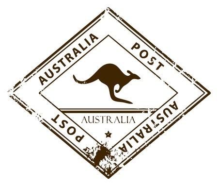 Австралия: Grunge штамп со словом Австралии внутри