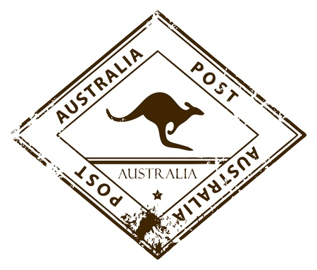 australia stamp: Grunge rubber stamp with word Australia inside