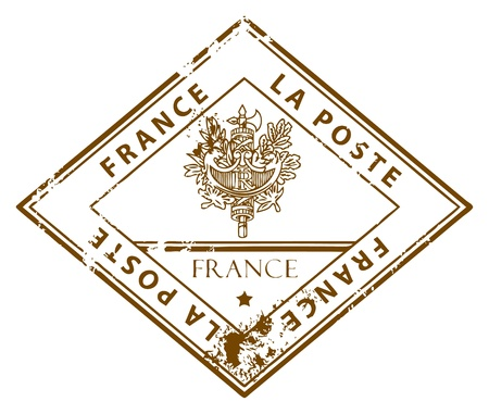 france stamp: Grunge rubber stamp with the word France inside