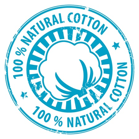 organic cotton: Abstract grunge timbro di gomma con cotone e il cotone 100 Natural testo scritto all'interno