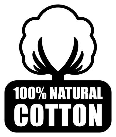 Algodón etiqueta Ilustración de vector