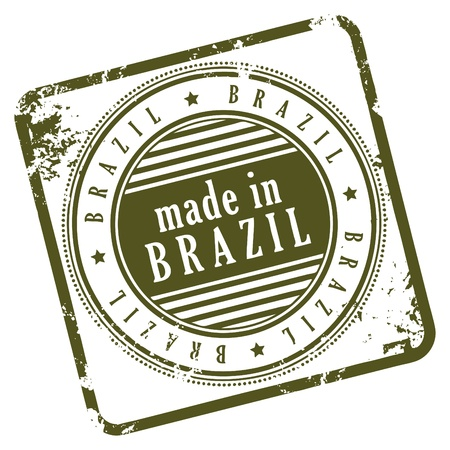 Grunge rubber stamp made in Brasil Stock Vector - 14369037