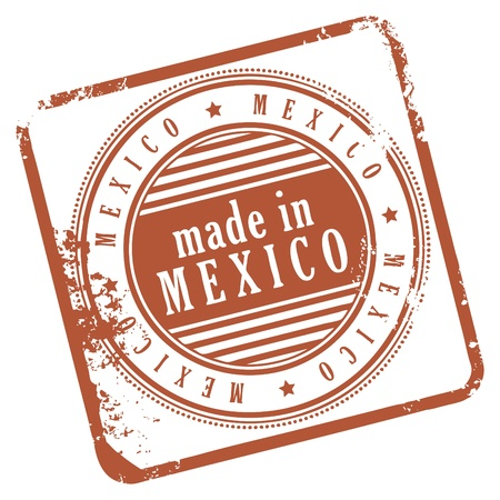 Grunge rubber stamp made in Mexico Stock Vector - 14369033