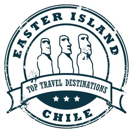 voyage: Grunge sello de caucho con las estatuas de piedra