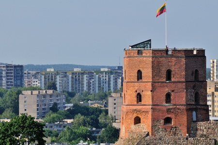 lithuanian: Tower of Gediminas, Vilnius, Lithuania  Summer  Stock Photo