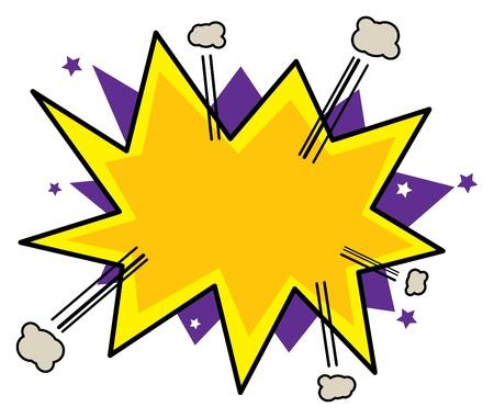 explosie: Abstract komische achtergrond Stock Illustratie