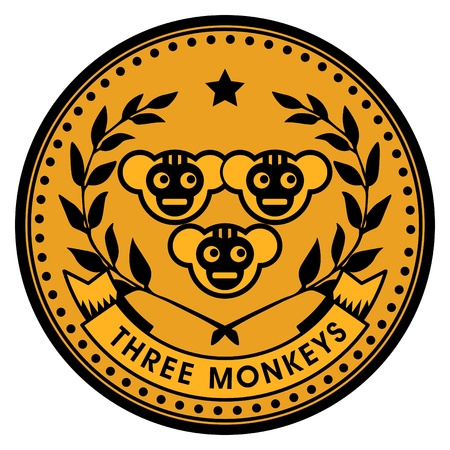 apes: Monkey coin Illustration