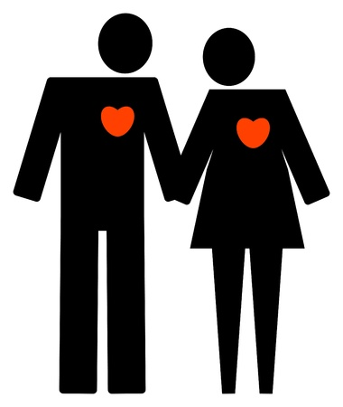 Man and woman love symbol Stock Vector - 14410708