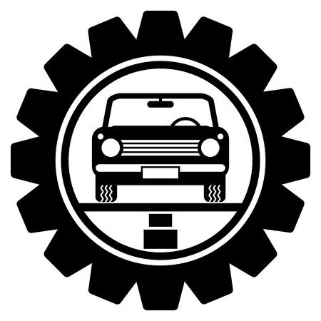 piezas coche: S�mbolo de servicio de coches Vectores