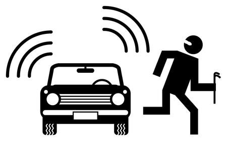 insurance protection: Car alarm Illustration