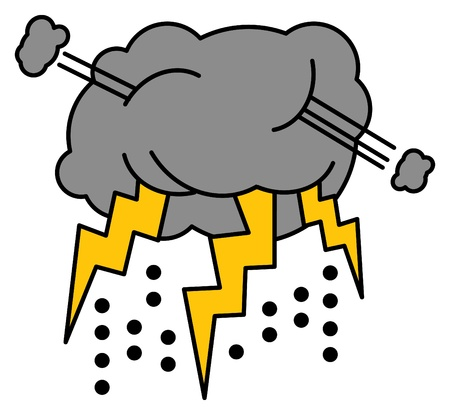 Thundershower cartoon Vector