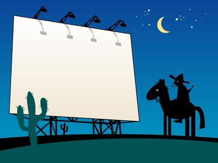 outdoor blank billboard: Outdoor billboard