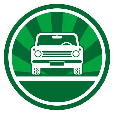 Green car icon Stock Vector - 14459576