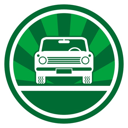 Green car icon Stock Vector - 14459576