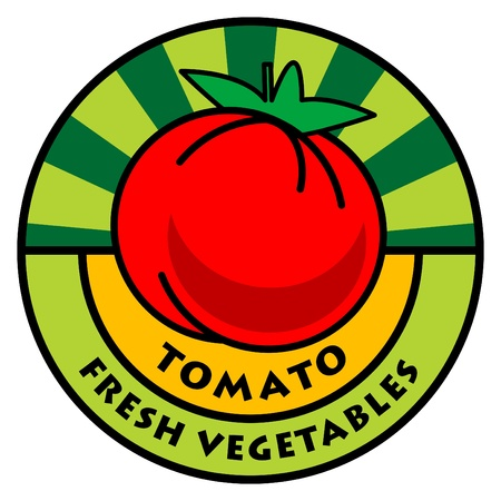 tomato juice: Vegetables label, tomato