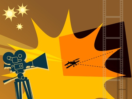 grungy header: Abstract cinema background