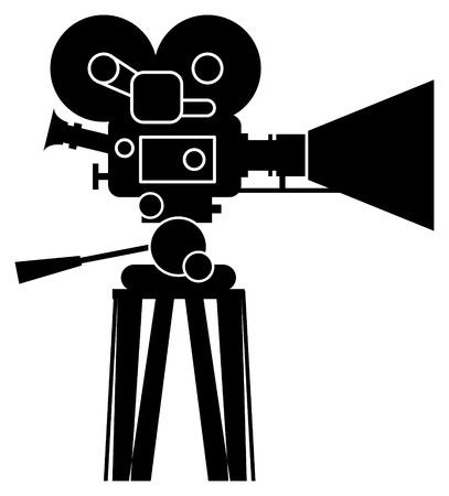 camcorder: Film cinema camera Illustration