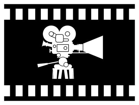 Film cinema camera Illustration