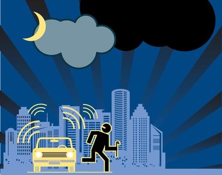 alarm system: Car alarm background