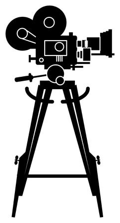video shooting: Film cinema camera Illustration