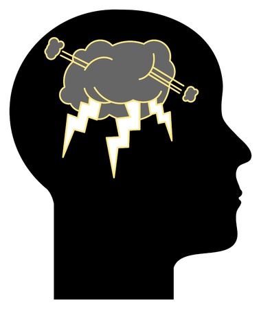 Thinking Head  Stock Vector - 14513541
