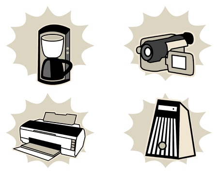 Set of household appliances Vector