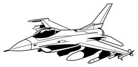 Jet Fighter vliegtuigen Vector Illustratie