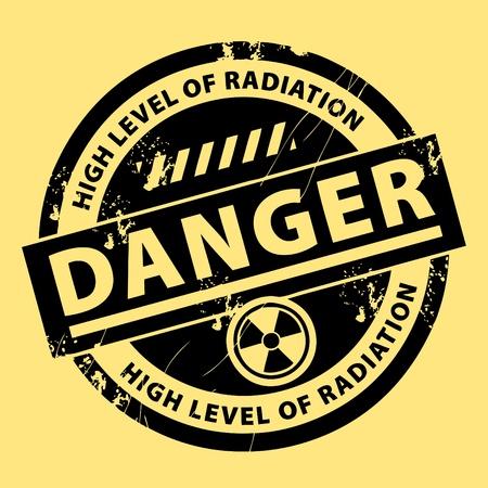 Sello de advertencia de peligro nuclear