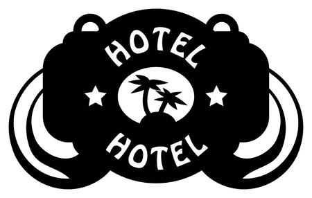 Tropical hotel sign Vector